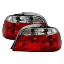 Zadní čirá světla BMW E38 95-02 – červená/krystal