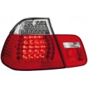 Zadní čirá světla BMW E46 Lim. 02-04 – LED, červená/krystal