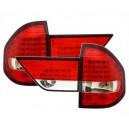Čirá světla BMW E83 X3 04-10 - LED, červená/krystal