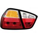 Zadní čirá světla BMW E90 3er Lim. 05-08 – LED, červená/krystal