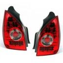 Čirá světla Citroen C2 03-05 – LED, červená/krystal