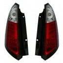 Čirá světla Fiat Grande Punto 05+ _LED, červená/krystal