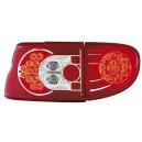Zadní čirá světla Ford Escort MK7 93-00 – LED, červená/krystal