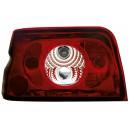 Zadní čirá světla Ford Escort MK5 90-95 – červená/krystal