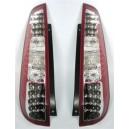 Zadní čirá světla Ford Fiesta MK6 03-06 3dv. – LED, červená/krystal