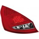 Zadní čirá světla Ford Fiesta MK7 08+ _ LED, červená/krystal