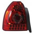 Zadní čirá světla Honda Civic 96-00 3dv. – LED, červená/krystal
