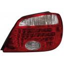 Zadní čirá světla Mitsubishi Outlander 05-06 - LED, červená/krystal