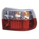 Čirá světla Opel Astra F 91-97 – LED, červená/krystal