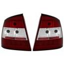 Zadní čirá světla Opel Astra G Lim./Hatch 98-04 – LED, červená/krystal