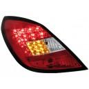 Zadní čirá světla Opel Corsa D 06-08 5dv. - LED, červená/krystal