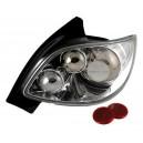 Zadní čirá světla Peugeot 206cc 98-09 – chrom