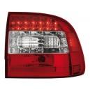 Čirá světla Porsche Cayenne 03-07 - LED, červená/krystal