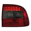 Čirá světla Porsche Cayenne 03-07 - LED, červená/kouřová