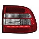 Zadní čirá světla Porsche Cayenne 03-07 - LED, červená/krystal