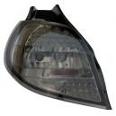 Zadní čirá světla Renault Clio 05-09 - LED, černá
