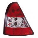 Čirá světla Renault Clio II 98-01 - LED, červená/krystal