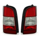 Zadní čirá světla Mercedes Benz W638 Vito 96-03 – LED, červená/krystal