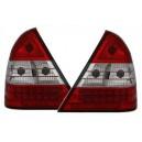 Čirá světla Mercedes Benz C-tř. W202 94-00 – LED, červená/krystal