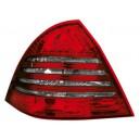 Zadní čirá světla Mercedes Benz W203 C-tř. 00-04 – LED, červená/kouřová