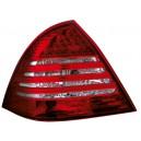 Čirá světla Mercedes Benz W203 C-tř. 00-04 – LED, červená/krystal