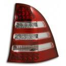 Zadní čirá světla Mercedes Benz C W203 00-05 T – LED, červená/krystal