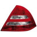 Zadní čirá světla Mercedes Benz W203 C-tř. 00-04 – LED, červená/krystal