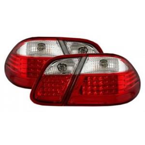 Zadní čirá světla Mercedes Benz CLK C208 97-02 – LED, červená/krystal
