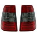 Zadní čirá světla Mercedes Benz E W124 85-96 Combi – LED, červená/kouřová