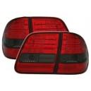 Zadní čirá světla Mercedes Benz W210 T-Model – LED, červená/kouřová
