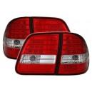 Čirá světla Mercedes Benz W210 T-Model – LED, červená/krystal
