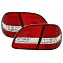 Zadní světla Mercedes Benz W211 T-Model 06-09 – LED, červená/krystal