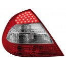 Čirá světla Mercedes Benz W211 E-tř. 02-06 – LED, červená/krystal