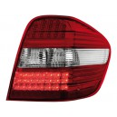 Zadní světla Mercedes Benz W164 M-tř. 05-08 - LED, červená/krystal