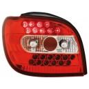 Čirá světla Toyota Yaris 98-03 – LED, červená/krystal