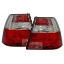 Zadní čirá světla VW Bora 99-05 – červená/krystal