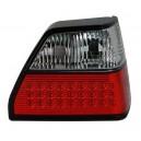 Čirá světla VW Golf II 83-92 – LED, červená/krystal