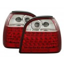 Čirá světla VW Golf III 91-98 – LED, červená/krystal