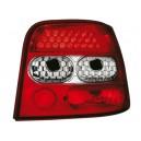 Čirá světla VW Golf IV 97-06 – LED, červená/krystal