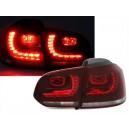 Čirá světla VW Golf VI 5K 10/08- _ LED, červená/krystal