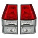 Zadní čirá světla VW Polo 86C I 81-90 – červená/krystal