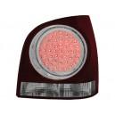 Čirá světla VW Polo 3+5dv. 9N 01-09 – LED, červená/krystal