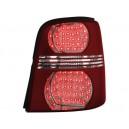 Zadní čirá světla VW Touran 03-10 - LED, červená/krystal