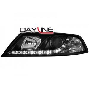 Přední světla DEVIL EYES Škoda Octavia 2 04-09 – černá